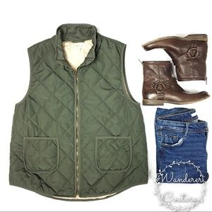41 Hawthorn Stitch Fix Quilted Olive Vest